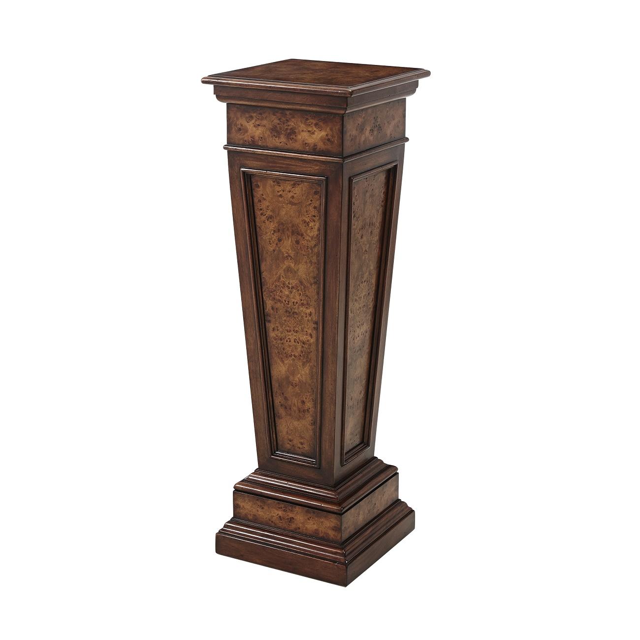1705 007 The Burl Pedastal Table Theodore Alexander