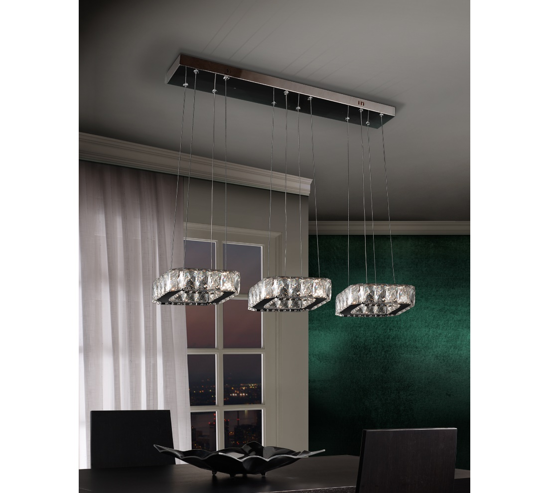 Schuller Diva Pendant 3 Squares Pendant1 Lighting Brooklyn,New York- Accentuations Brand
