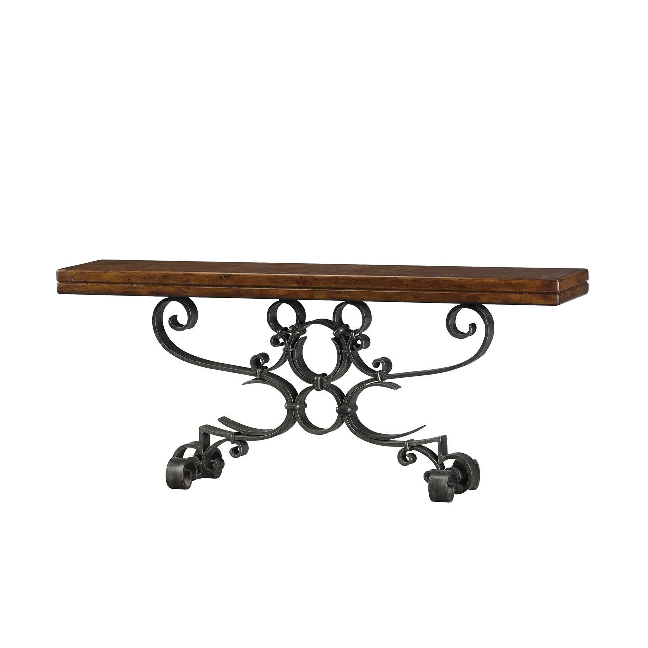 Antiqued Iron Scrolls Console, Theodore Alexander Console Brooklyn, New York