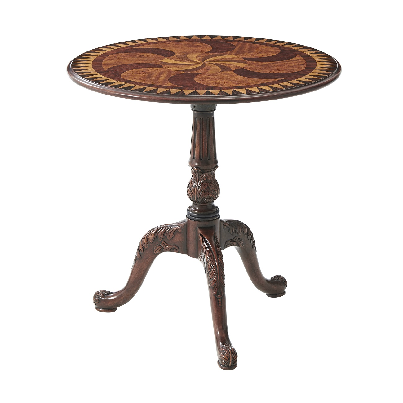 5005 216 The Swirl-Top Accent Table theodore alexander