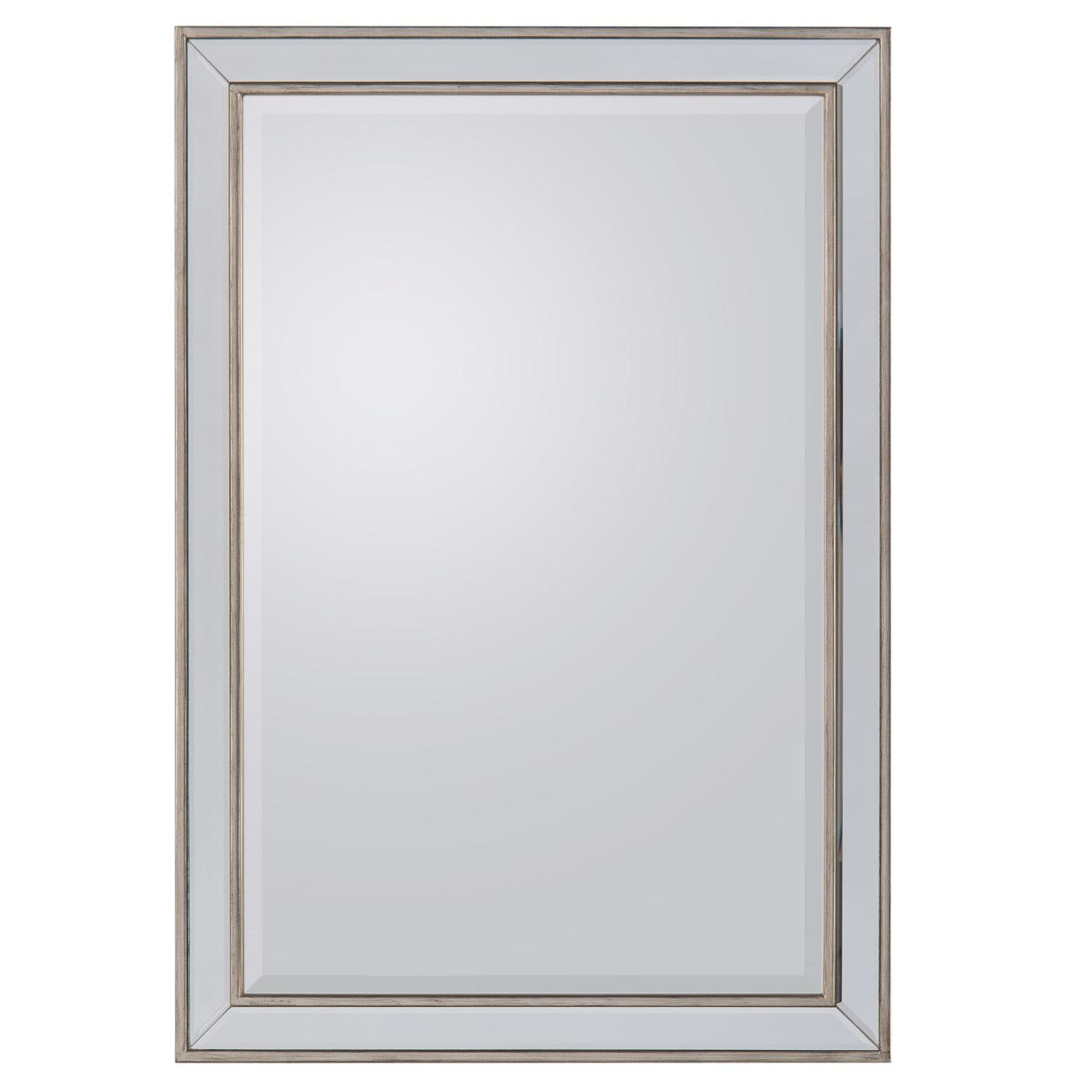 Silver Wood Framed Mirror, John Richard Mirror