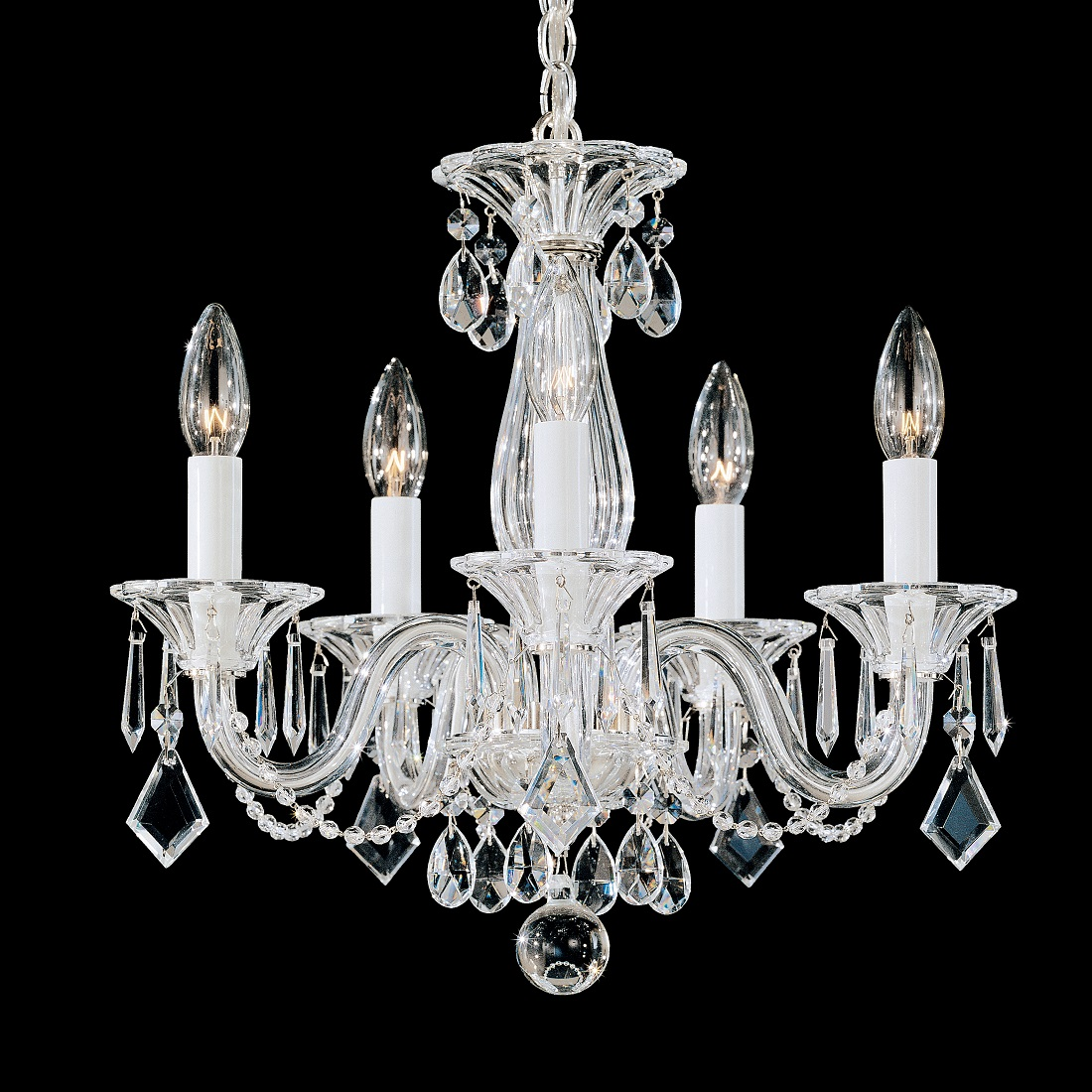 Schonbek Modern Crystal Chandelier for Dining Room