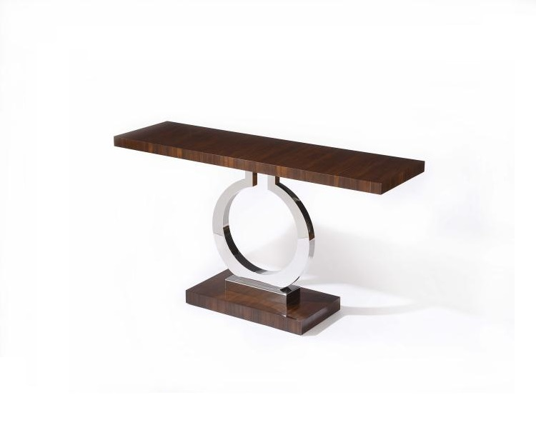 Century Furniture Console with Stainless Steel Pedestal online Brooklyn, New York