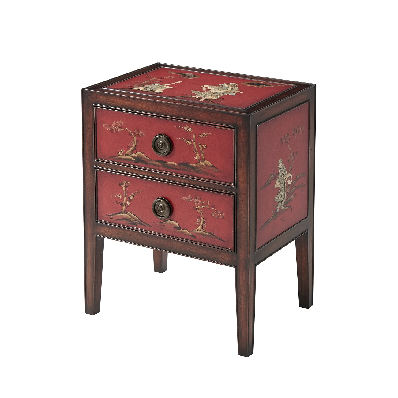 5002 209 A Vision In Scarlet Nightstand theodore alexander