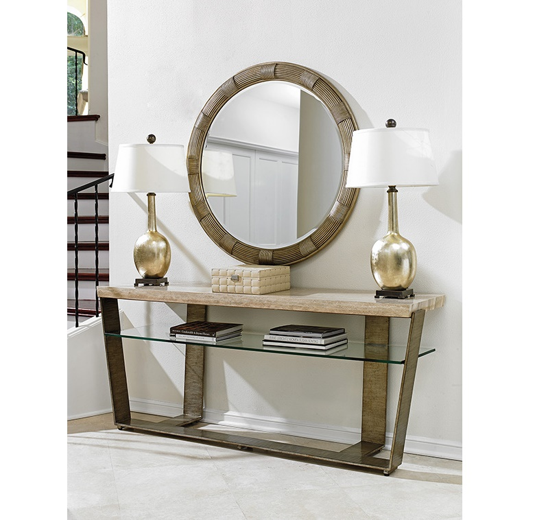 Lexington Glass and Wood Console Table