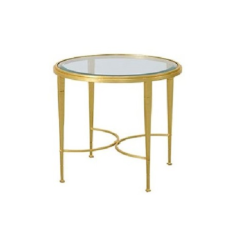 Deco Little circle iron table with glass, Cavio Casa circle iron table with glass