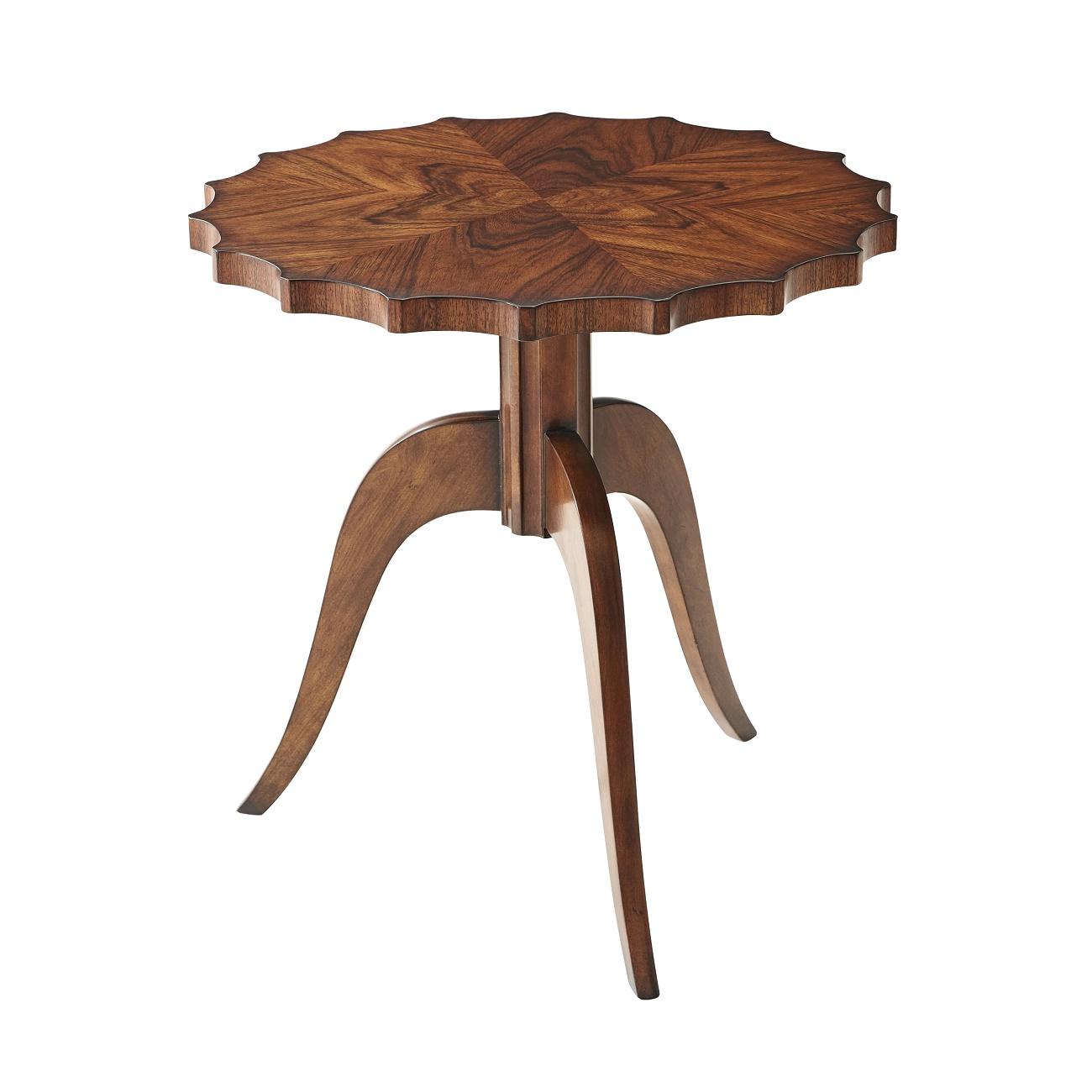 5005 607 Eclectics Modern Piecrust Accent Table theodore alexander