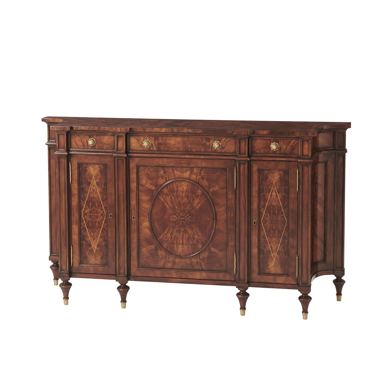 Concave Side Cabinet, Theodore Alexander Cabinet