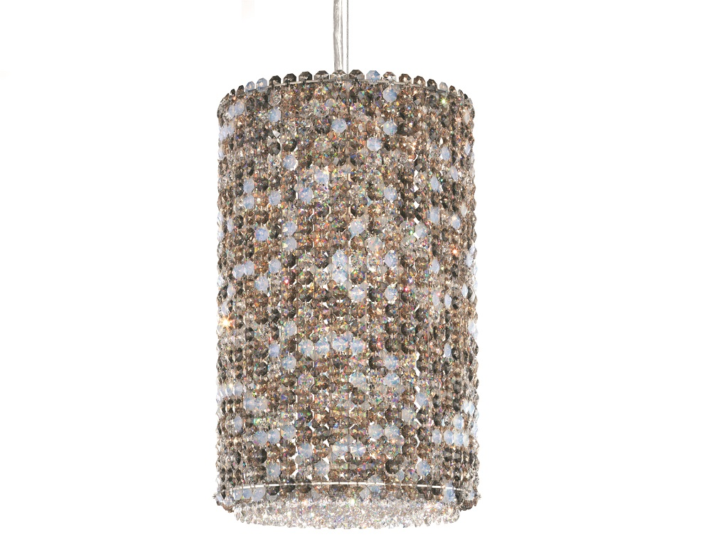 Schonbek Modern Crystal Pendant Chandelier, Furniture by ABD, Accentuations Brand