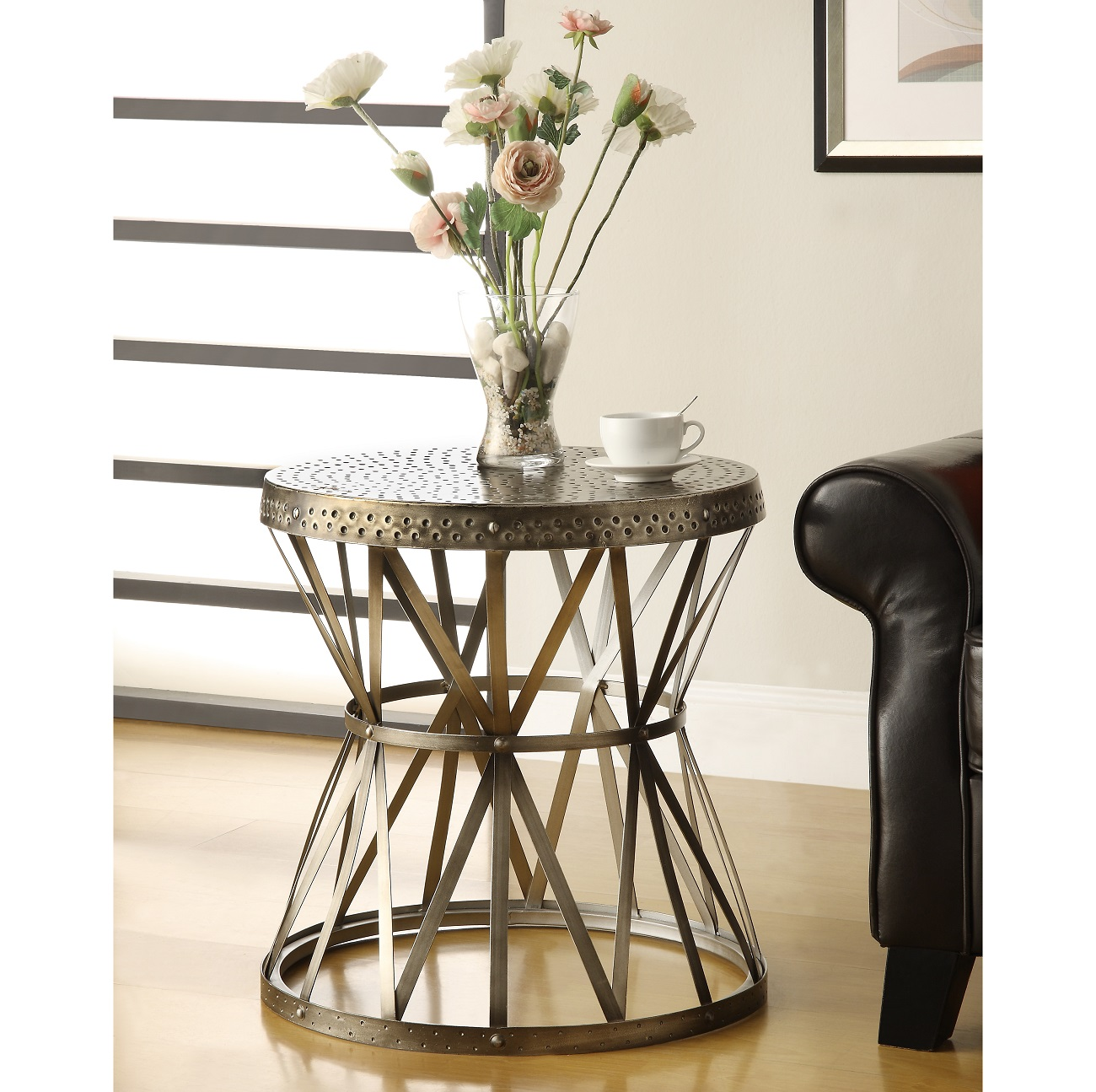 Truly unique this accent table will shine anywhere