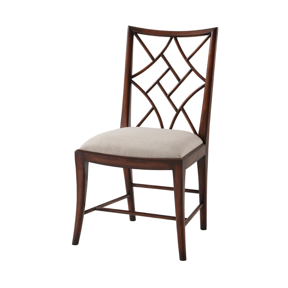 A Delicate Trellis Dining Chair, Theodore Alexander Chairs Brooklyn, New York