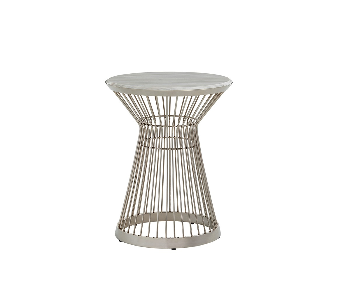 Ariana Martini Stainless Accent Table, Lexington Accent Table