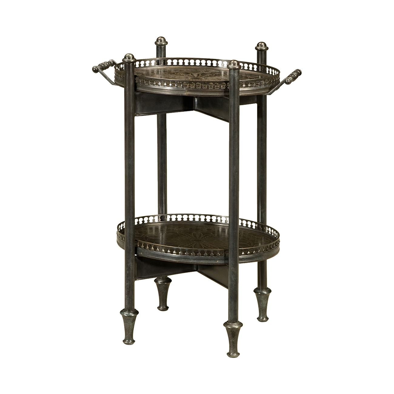 1121 015 The Armoured Butler Accent Table Theodore Alexander