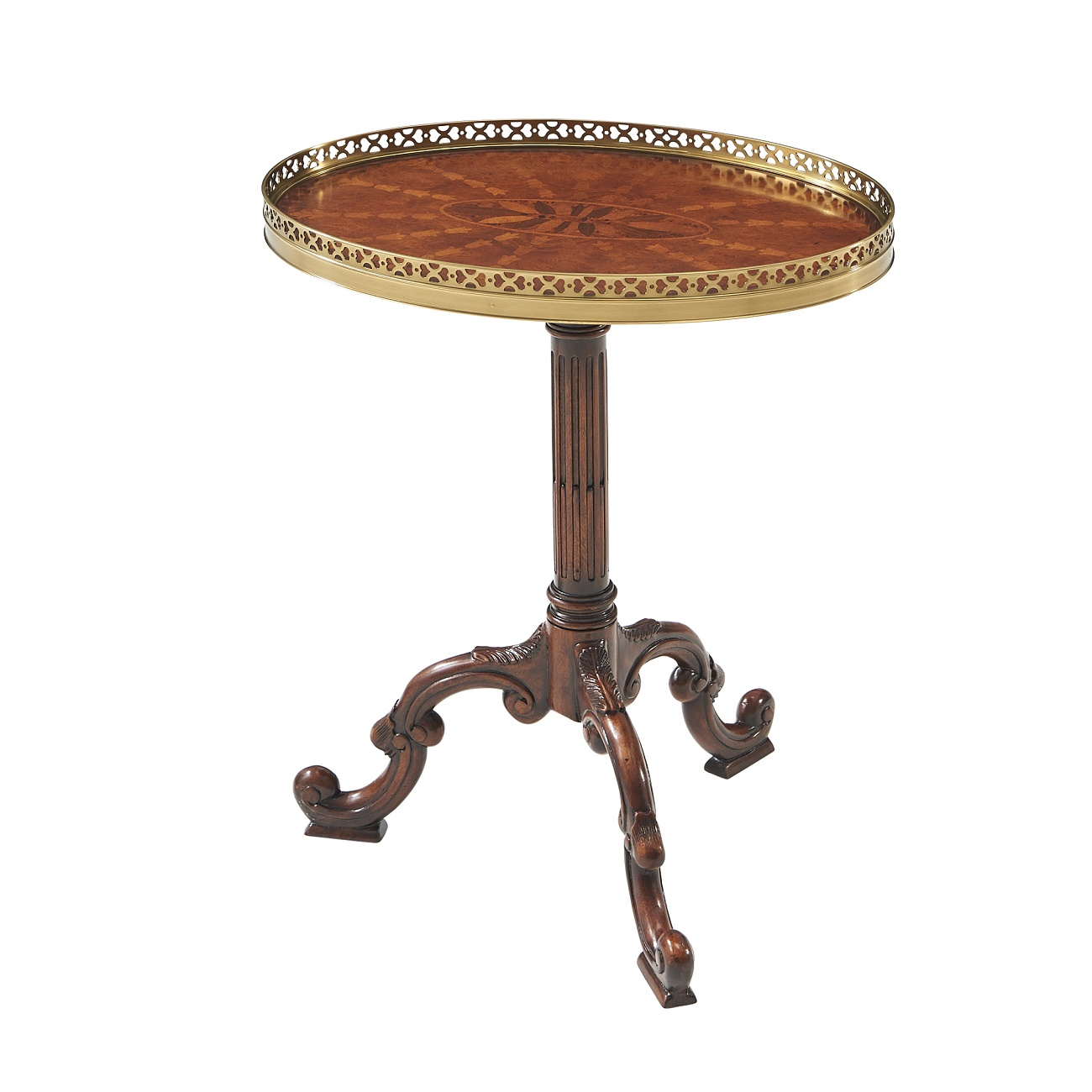 5005 022 Radiating Parquetry Accent Table theodore alexander