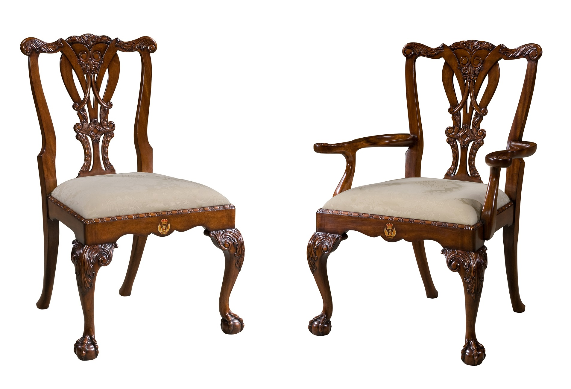Crested Chair, Theodore Alexander Chairs Brooklyn, New York