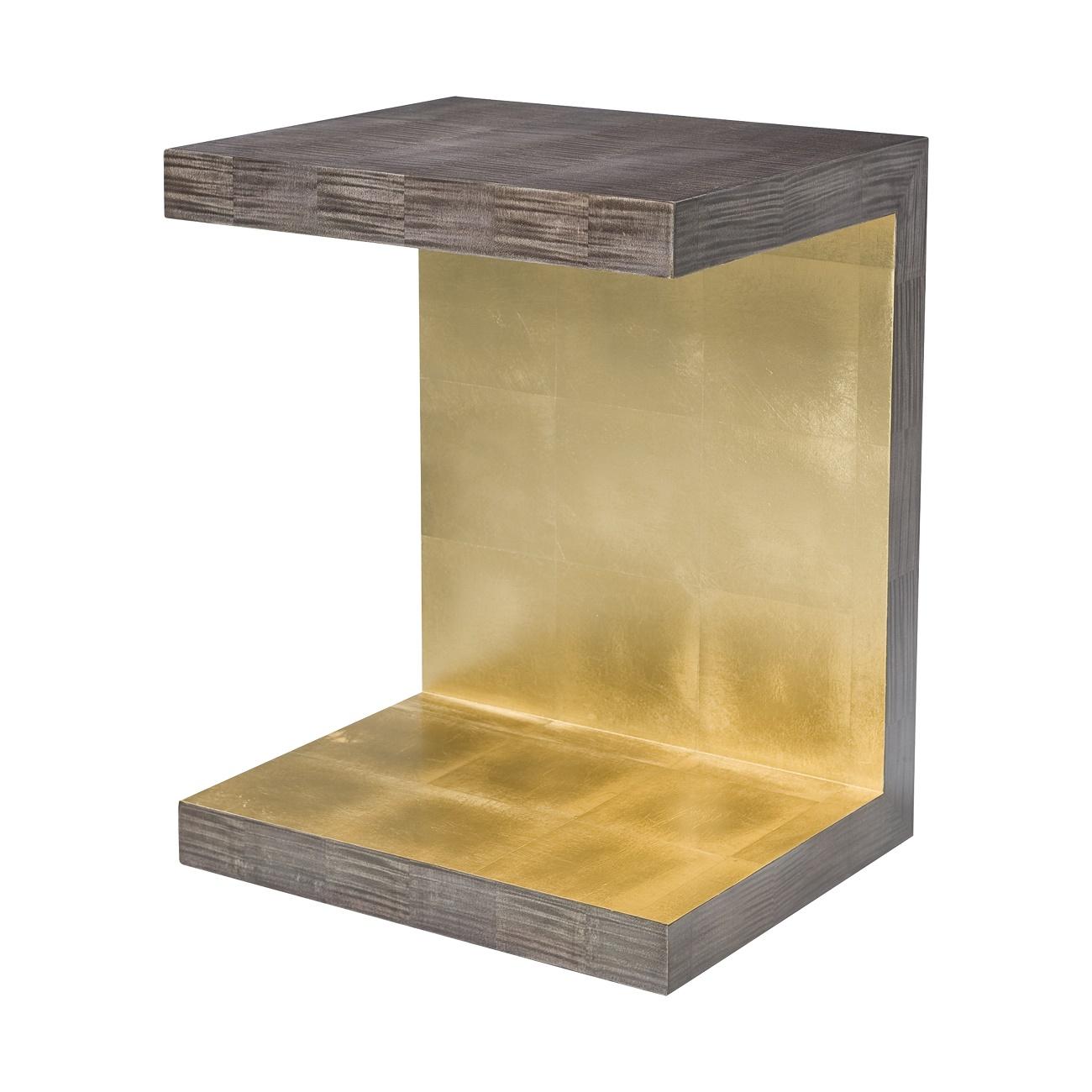 5005 856 Metallic Signature Piece Accent Table theodore alexander