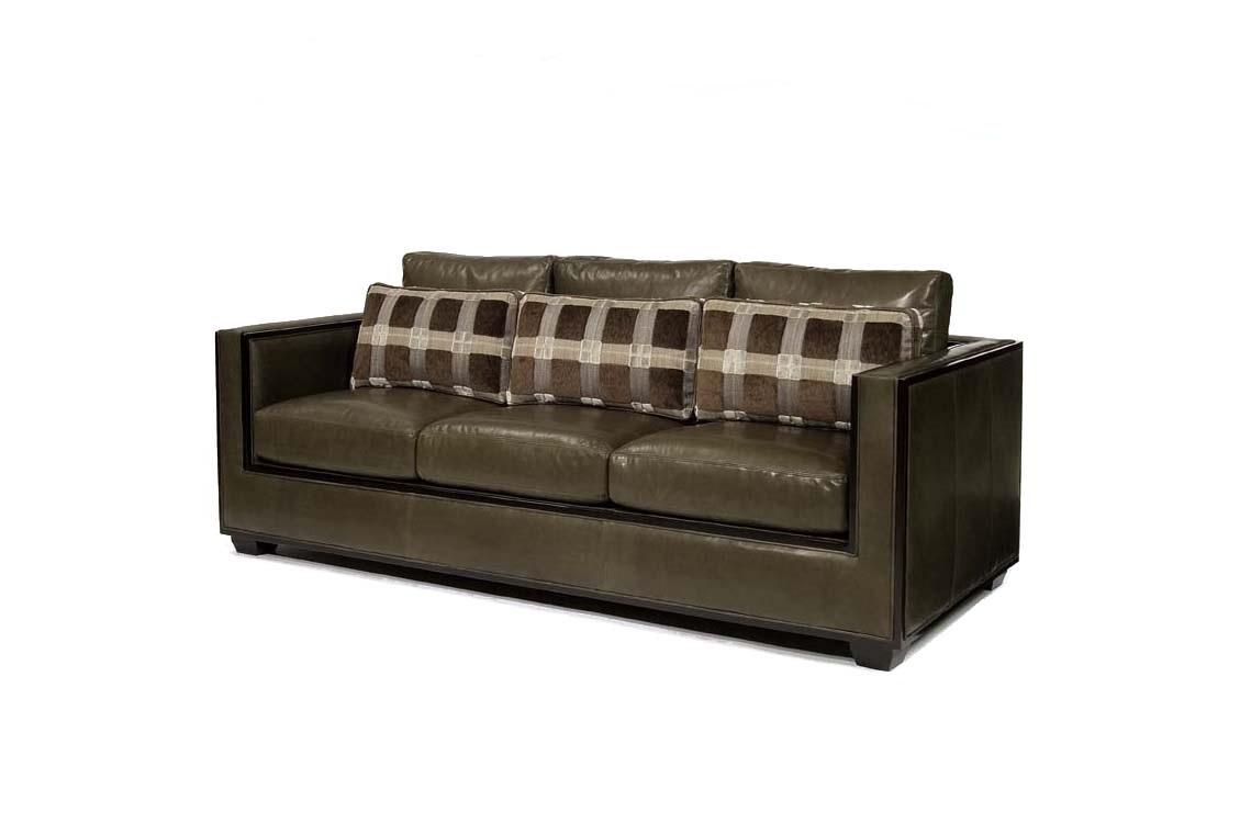 Century Furniture Furniture Modern 3 Seater Leather Sofa
