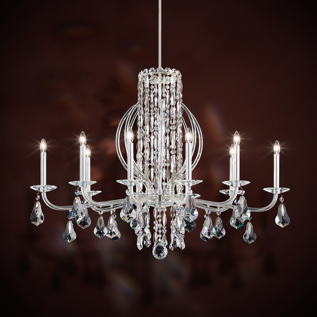 Schonbek Modern Crystal Chandelier for Dining Room, Accentuations Brand