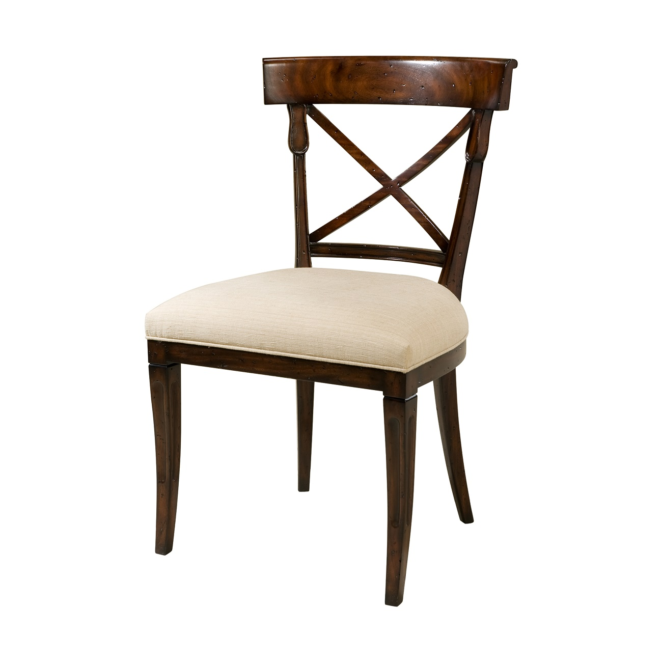 brooksby chair theodore alexander mahogany upholstered