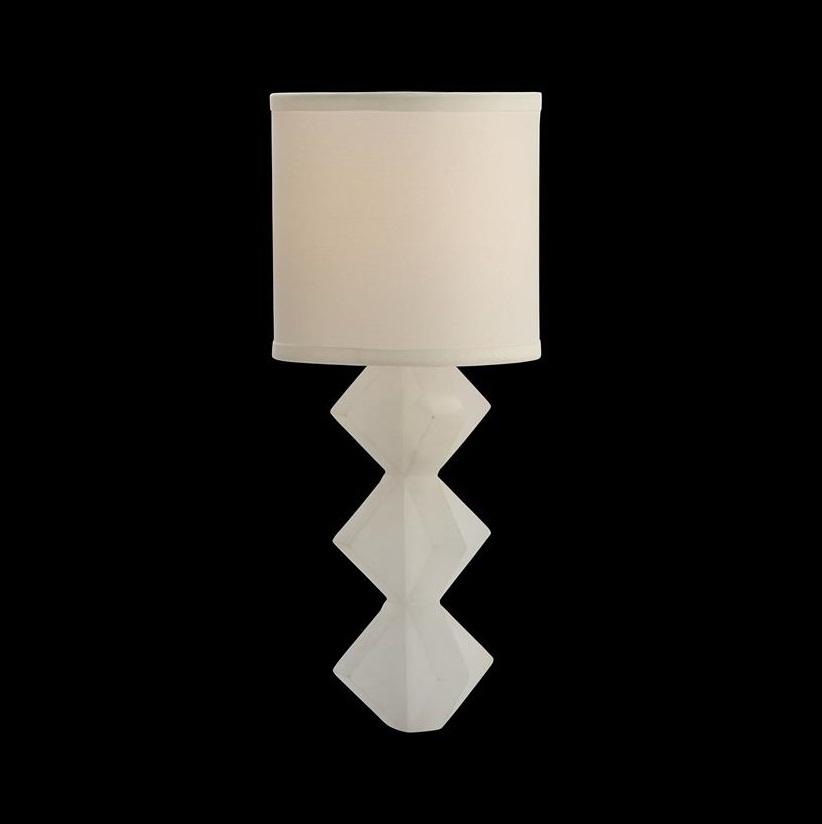 Alabaster Single-Light Wall Sconce, John Richard Wall Sconce, Brooklyn, New York, Furniture y ABD
