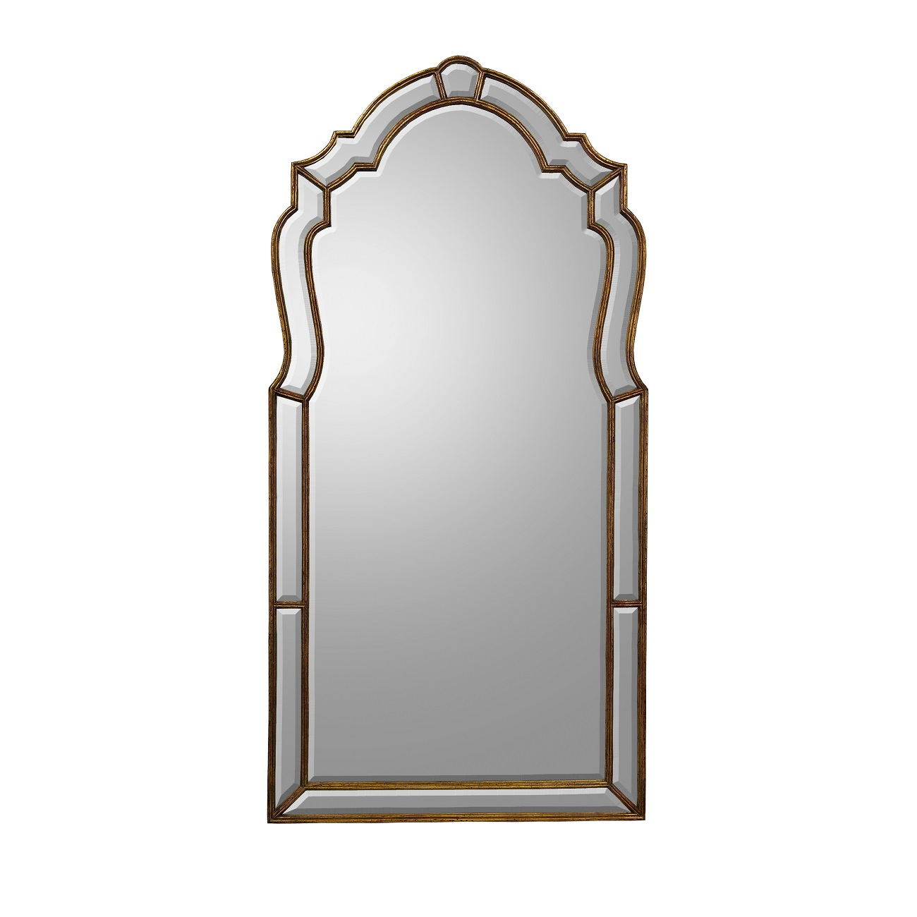 Wood Frame Bevel Mirror, John Richard Mirror