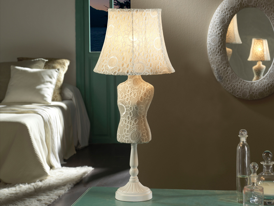 Schuller Vogue Crochet Table Lamp Brooklyn,New York - Accentuations Brand