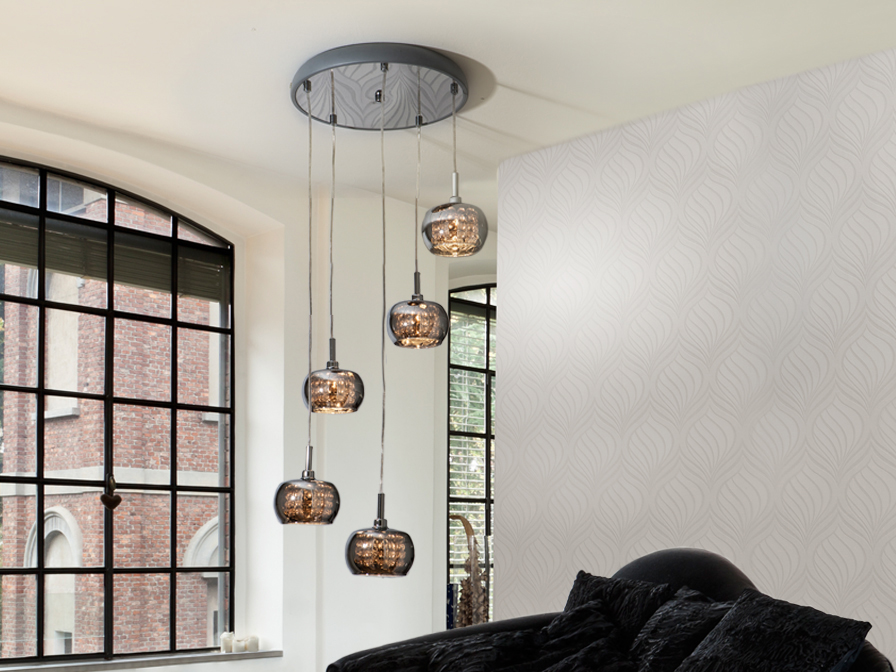 Arian 5L Schuller Pendant Lights Brooklyn,New York - Accentuations Brand
