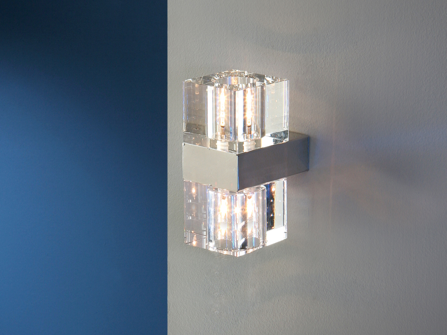 Schuller Cubic Wall Lamp Candle Sconces for Walls Brooklyn,New York- Accentuations Brand