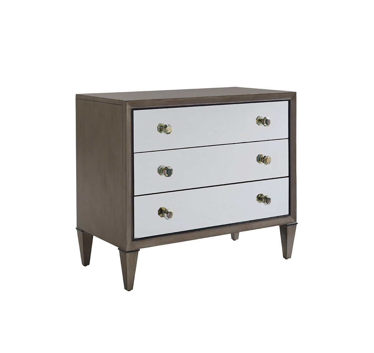 Ariana Divonne Mirorred Nightstand, Lexington Modern Nightstands For Sale