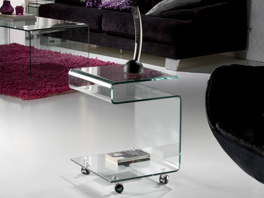 Schuller Glass Clear Buy End Tables Online Brooklyn, New York