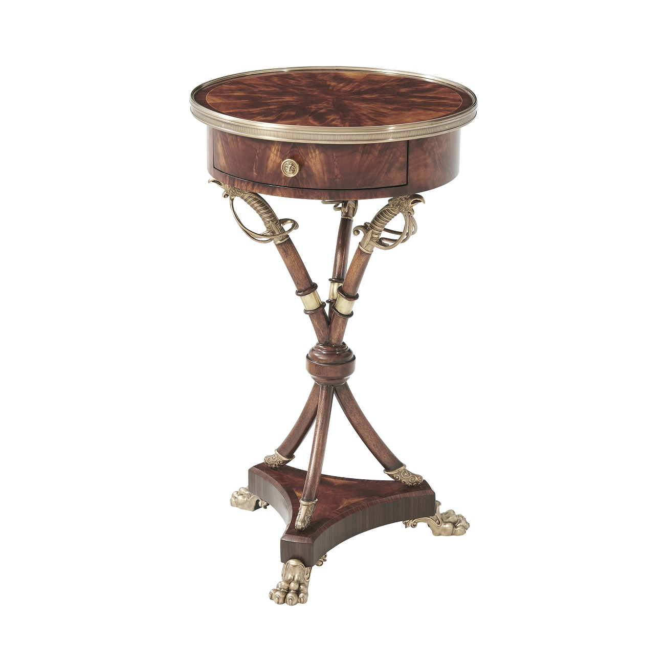 Theodore Alexander Admiralty Mahogany Lamp Tables for Sale Brooklyn, New York