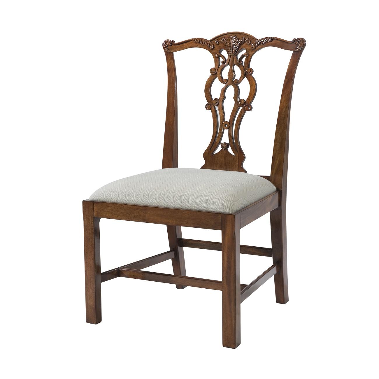 penreath chair theodore alexander mahogany upholstered