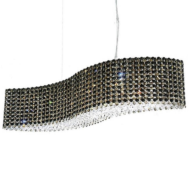 Schonbek Modern Crystal Pendant Chandelier, Accentuations Brand, Furniture by ABD