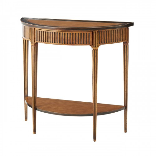 The Provincial Bowed Console, Theodore Alexander Console, Brooklyn, New York, Furniture by ABD