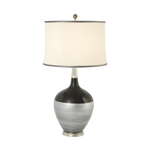 Theodore Alexander Silvered Shimmer Table Lamp