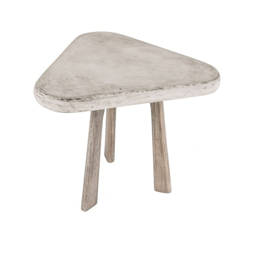 ELK Lighting Candy Side Table in Polished Concrete Console Table Online Brooklyn, New York