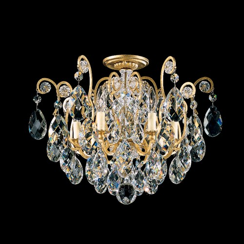 Schonbek Flush Mount Crystal Ceiling Lights, Accentuations Brand, Furniture by ABD, Brooklyn, New York