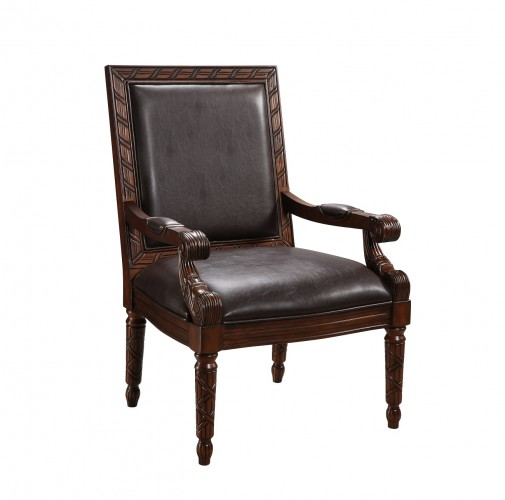 94035 durable Leather-like Dark Brown color for a warm chair