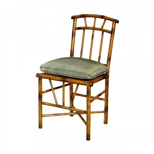 chinoiserie bamboo side chair with arched toprail and slat back