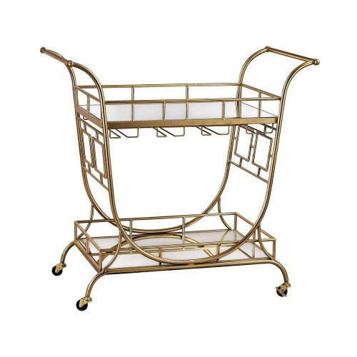 ELK Lighting Mirrored Server Bar Cart for Sale Brooklyn, New York