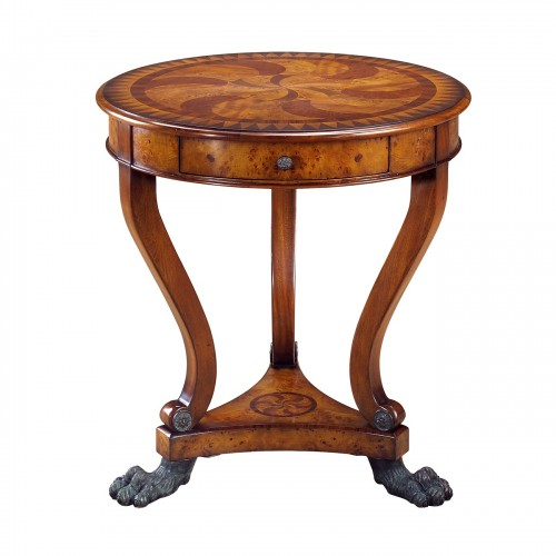 5005 228 Burl Swirls Accent Table theodore alexander