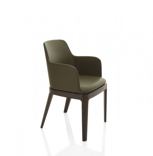 Margot Arm Chair Wood Legs, Bontempi Chairs Brooklyn, New York