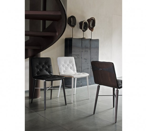 Kate Chair / Metal Legs with Cushion, Bontempi CASA Dining Chairs