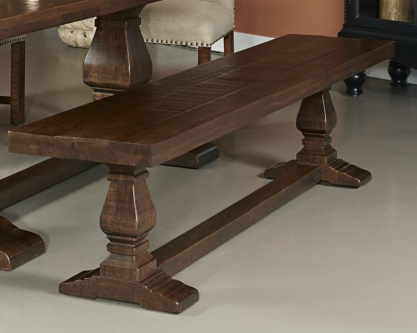 constructed with turned pedestal legs and a supporting crossbar
