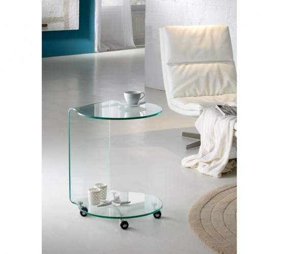 Schuller Glass Round End Tables for Sale Cheap Brooklyn, New York
