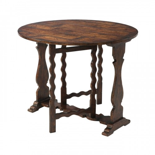 Victory Oak Gateleg Accent Table, Theodore Alexander Accent Table