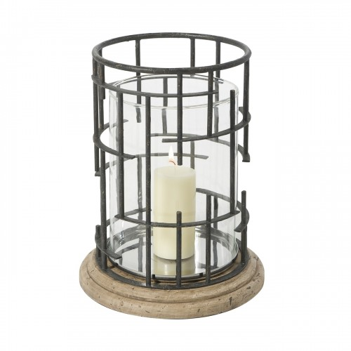 1312 010 Geometricity Candle Holder Theodore Alexander