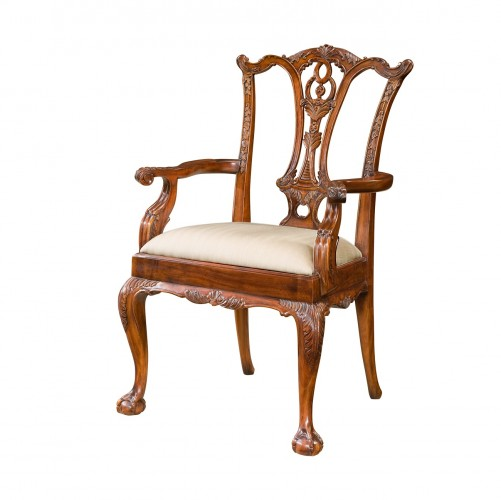 Classic Claw and Ball Armchair theodore alexander 4100 519