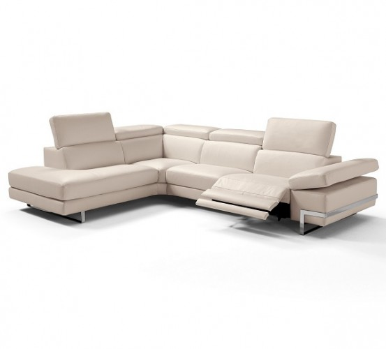 Best Modern and Luxury Leather Sectional Sofa Brooklyn - Furniture by ABD