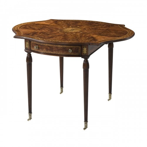5005 880 Penwork Pembroke Accent Table theodore alexander